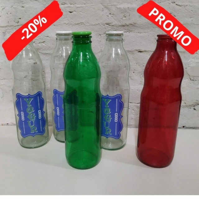 BOTELLA VINTAGE YOGURT CON TAPON ANTES $110)