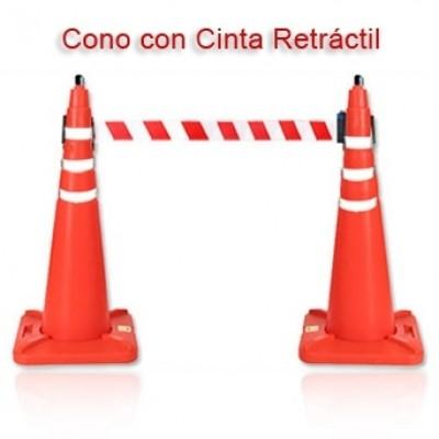 CONOS CON CINTA RETRACTIL