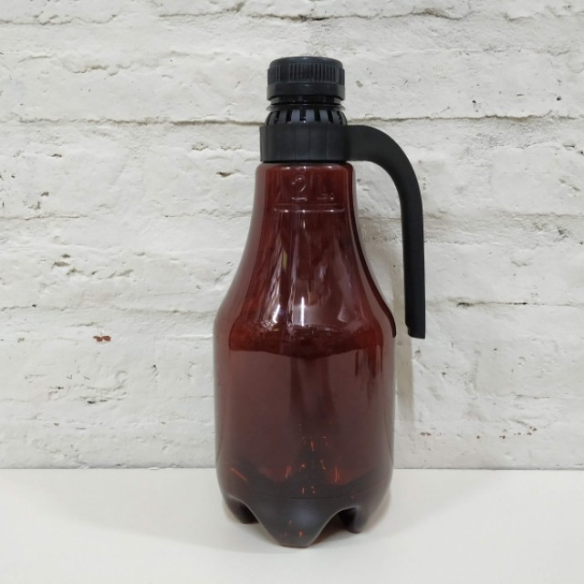 GROWLER PET X 2LT CON TAPA Y MANIJA