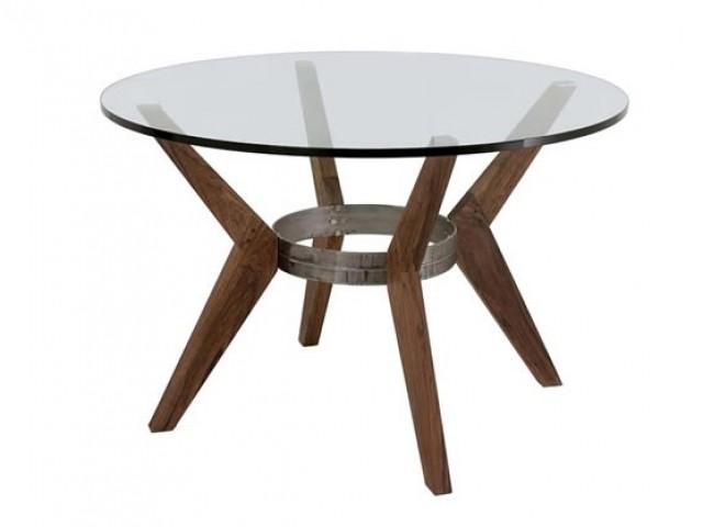 Base para mesa comedor nativa vidrio redondo mesas for Bases de mesas cromadas
