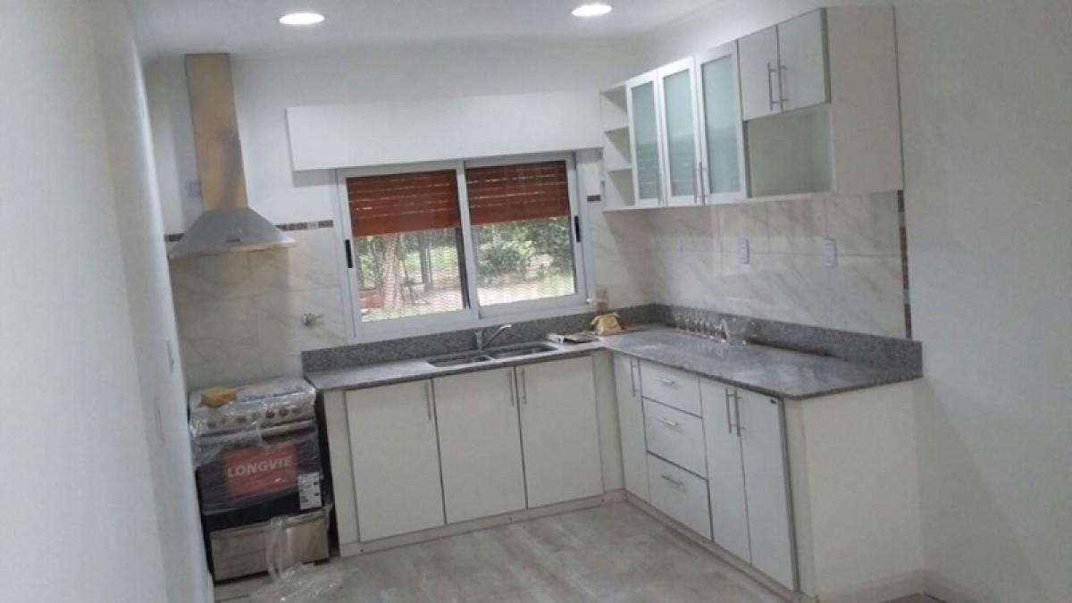 Cocina con canto de aluminio y barral amoblarte fabrica for Fabrica muebles uruguay