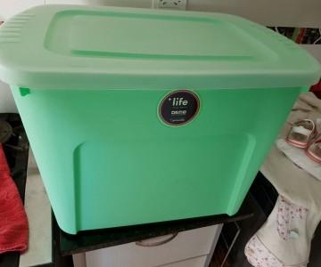 contenedor de plastico eco box 80 lts verde en Venado Tuerto