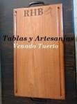 TABLA PARA ASADO EXTRA GRANDE EN MADERA MACIZA DE ALGARROBO, Cuchillos Patriota, venado tuerto