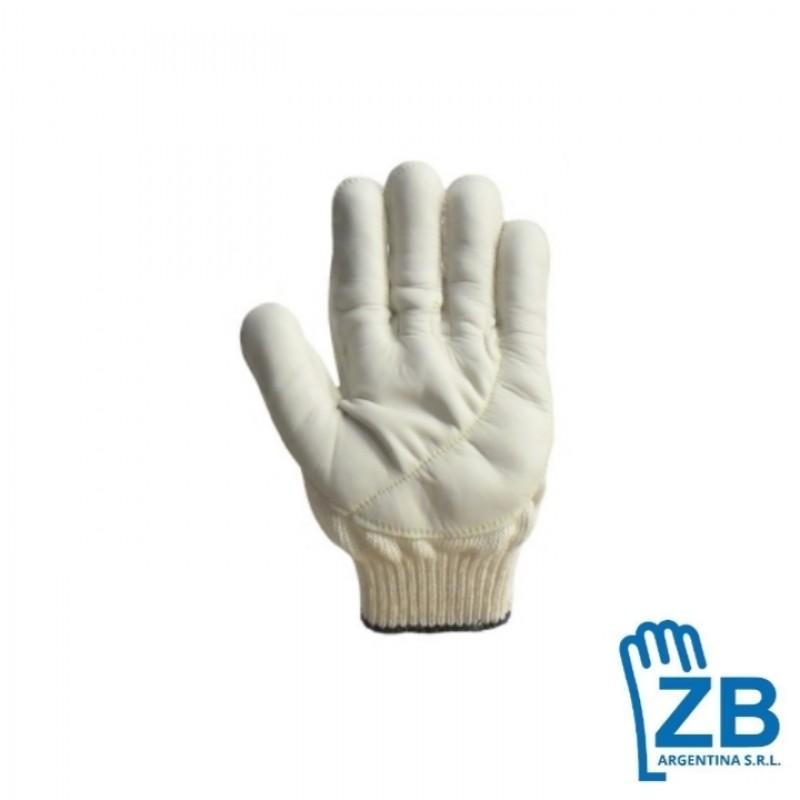guante zb tejido algodón palma vaqueta