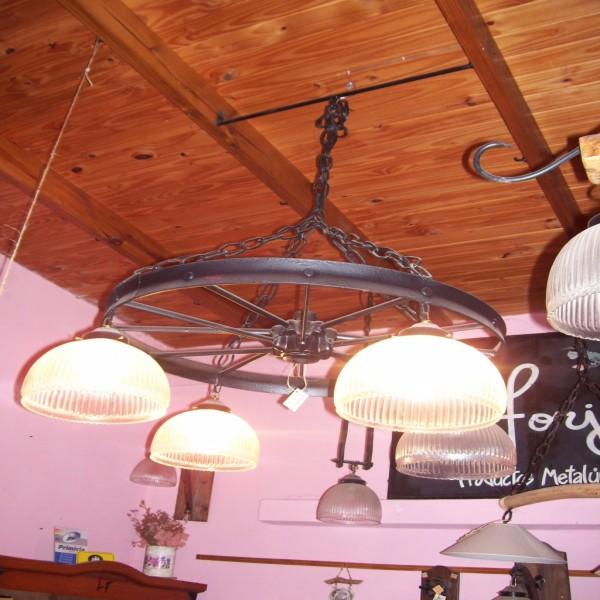 Lampara colgante tipo rueda lampara de techo portal de compras de productos en comercios y - Tipos de lamparas de techo ...