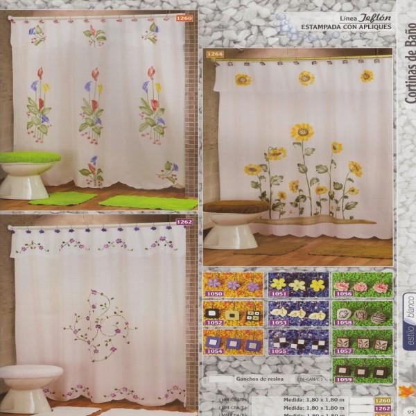 Linea teflon estampada con apliques hogar muebles y for Ganchos para bano