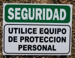 SEGURIDAD UTILICE EQUIPO DE PROTECCION PERSONAL, MATAFUEGOS AVENIDA, venado tuerto
