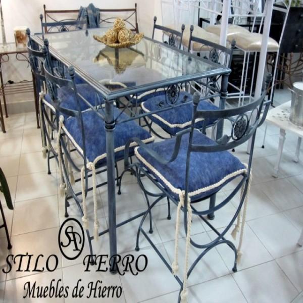 Muebles De Jardin En Hierro Forjado 1 Mesa Y 4 Sillas La