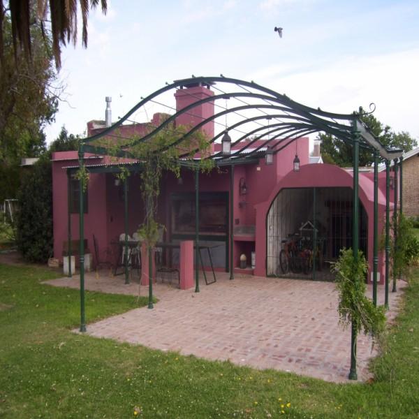 Pergola hierro accesorios para el hogar portal de for Pergolas de hierro para jardin