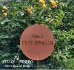 PINCHO OXIDO AMO ESTE RINCON, STILO FERRO Muebles Deco y Jardin, venado tuerto