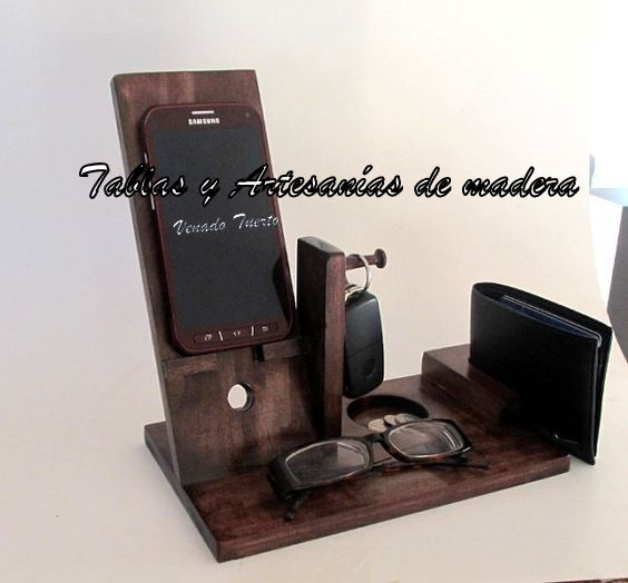 Porta Celular De Madera Portal De Compras De Productos