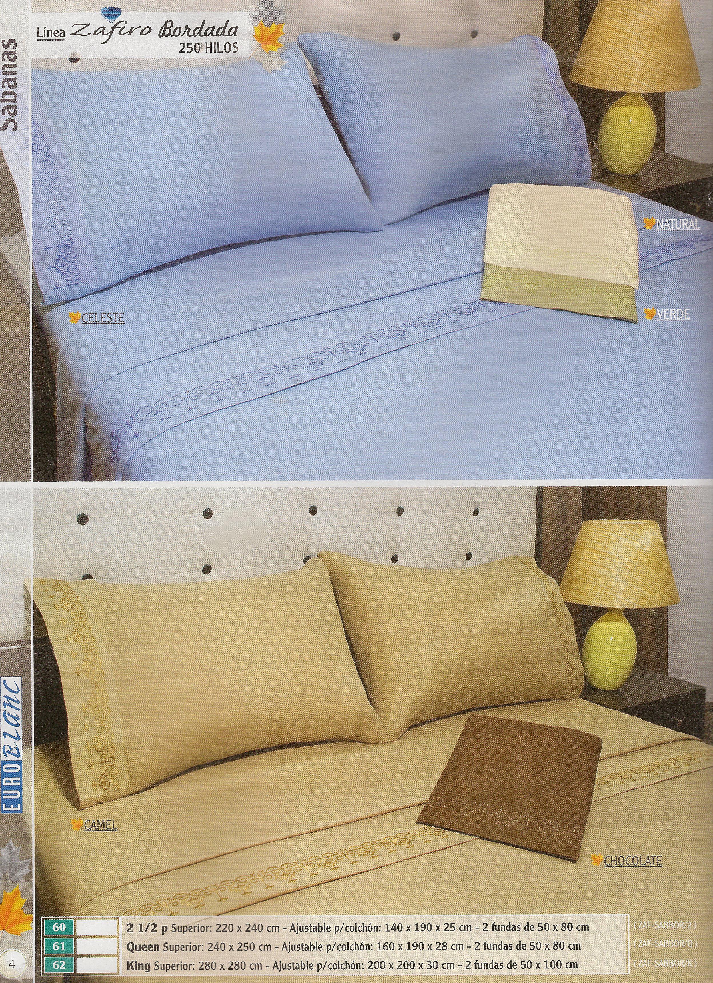Linea zafiro bordada 250 hilos hogar muebles y jardin for Cama zafiro