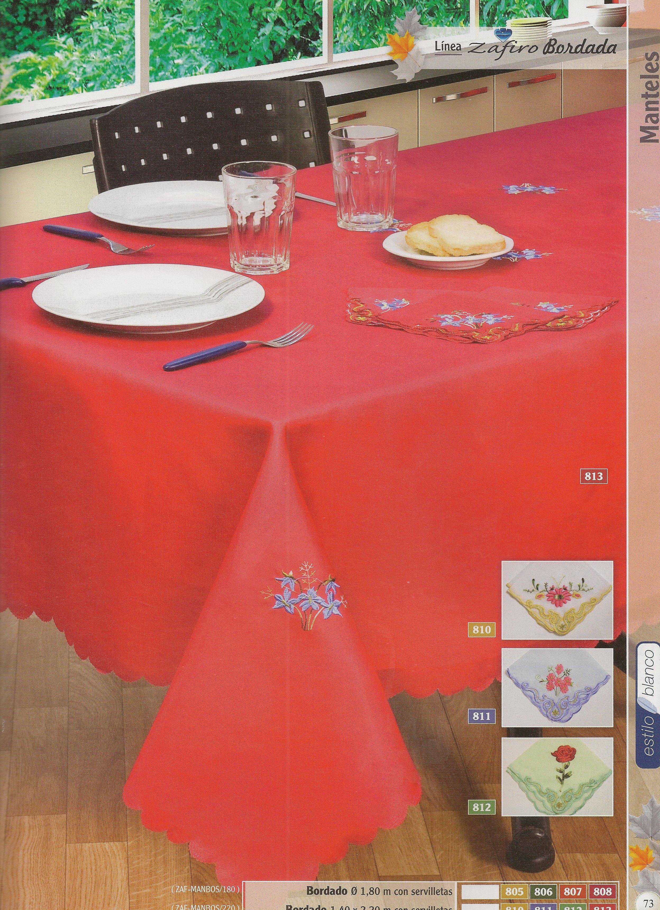 Linea zafiro bordada hogar muebles y jardin decoracion for Muebles y decoracion para el hogar