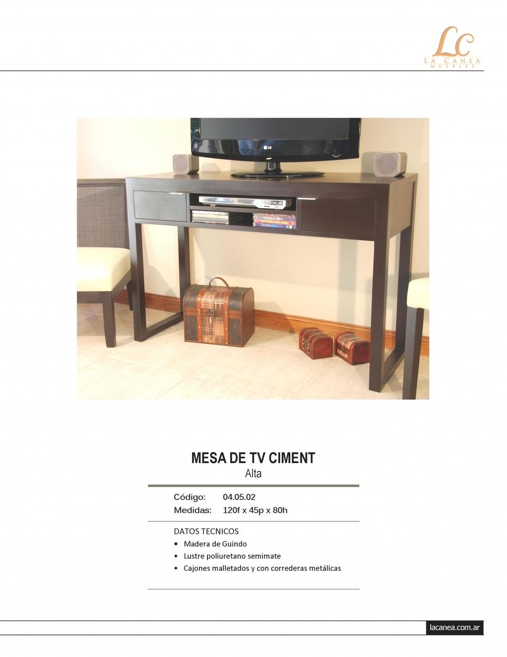 Mesa de tv ciment plasma alta mesas de tv portal de for Mesas televisor plasma